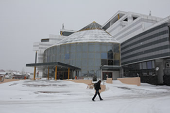 Conference Hall after snowfall