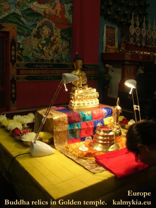 The relics of the Buddha brought to Kalmykia