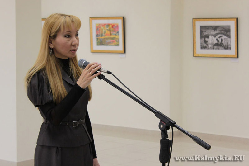 Larisa Vasilyeva at Exhibition in Elista, Kalmykia