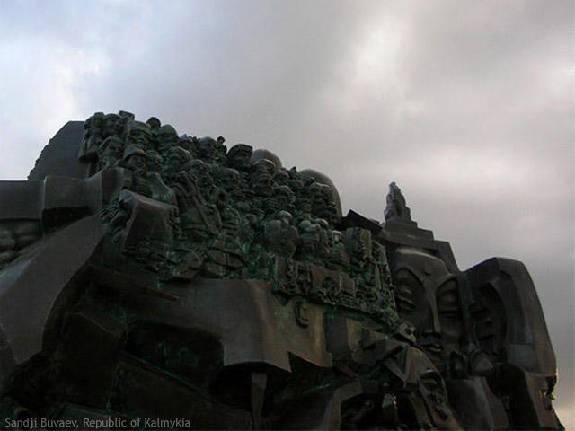 Le monument 'Exode et retour'