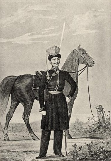 Kalmyk warriors in Russian Army 1812
