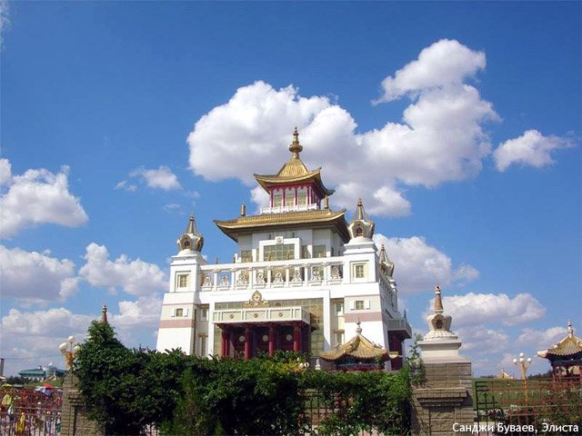 Golden temple in Elista