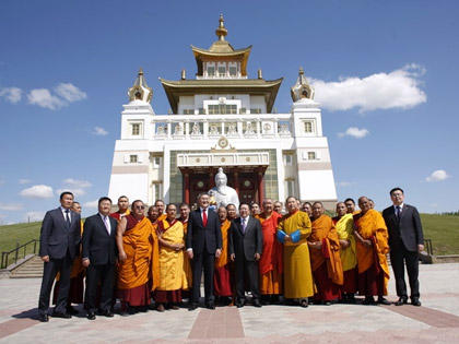 President of Mongolia in Kalmykia