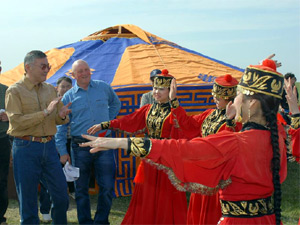 Head of Kalmykia Alexey Orlov took part in the Tulip Festival