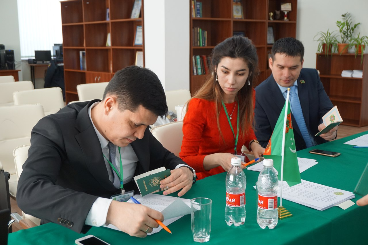 The vote on the choice of the President of Turkmenistan